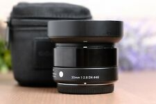 SIGMA ART 30MM F2.8 DN Black Lens For Micro Four Thirds Mount