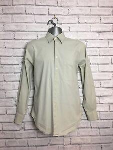 Jaeger Mens Egg Shell Long Sleeve Shirt 15 1/2 Inch Collar career wear