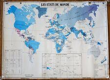 carte d'école - grande affiche scolaire - les états du monde