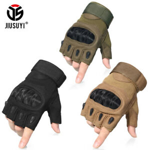 Tactical Assault Half Finger Gloves Cycling Motorcycle Airsoft Work Military Men