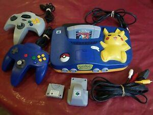 console nintendo 64 pikachu