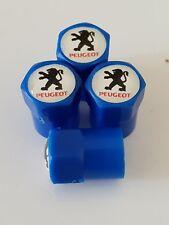 PEUGEOT valve DUST CAPS PLASTIC NON STICK All cars bikes 7 colours blue 408 308