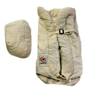 Ergobaby baby carrier ivory/beige newborn insert (7 to 12 lbs) 100% cotton