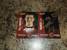 2016 -17 PRINCE GEORGE COUGARS MAX MARTIN WHL SINGLE PLAYER CARD