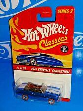 Hot Wheels Classics 2006 Series 2 #1 1970 Chevelle Convertible Blue w/ RL5SPs