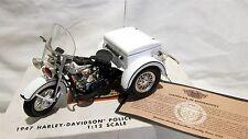 NEW 1947 Harley-Davidson Police Servi-Car Bank, 1:12 Scale, P/N 99150-97V, COA