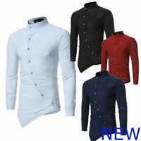 Top Casual Mens Slim Fit Long Sleeve Shirt Floral Luxury Dress Shirts Stylish