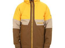 686 Authentic Smarty Network Snowboard Jacket (L) Sun Herringbone