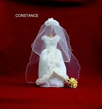 """CONSTANCE"" -  MINIATURE EDWARDIAN STYLE WEDDING DRESS - DOLLS HOUSE SHOP"