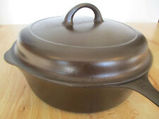 """""""FULLY RESTORED!"""" GRISWOLD #8 LG BLOCK CAST IRON CHICKEN PAN & HIGH DOME LID"""