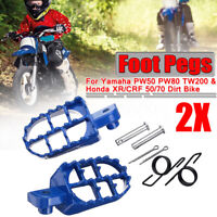FOOT PEGS FOOTPEGS FOOTREST FOR Yamaha PW50 PW80 Honda XR/CRF 50 Pit Dirt Bike