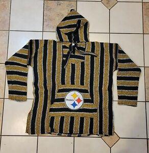 NFL Pittsburg STEELERS Baja hoodie pullover Mexican sweater XXXLarge