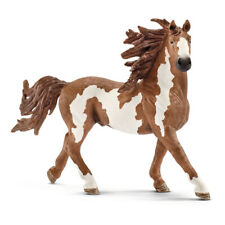 SCHLEICH Farm World Pinto Stallion Toy Figure, Brown/White, 3 to 8 Years (13794)