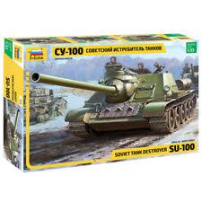 Zvezda 3688 Soviet S.P pistola su 100 1:35 Kit Modelo Militar
