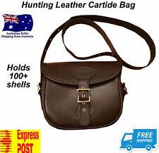 Hunting leather cartridge bag 100 shells shotgun bullet rifle case gun shooting