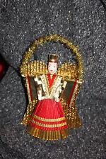 Nürnberger Rauschgoldengel - gold-rot - 21 cm
