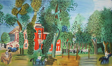 RAOUL DUFY-French Modernist-LIM.ED Color Litho Poster-Paddock at Deauville