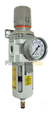 "1/2"" NPT Air Filter Pressure Relief Regulator Combo Poly Bowl & Automatic Drain"
