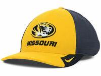 Missouri Tigers Nike NCAA Legacy 91 Dri Fit Gold Charcoal Flexfit Hat Cap M/L