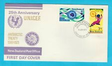 NZ New Zealand UNICEF & Antarctic Territories Anniversaries First Day Cover 1971