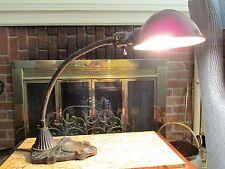 Art Deco Era Fancy Gooseneck Ashtray Lamp