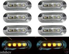 8x LED 12V Seite Amber Begrenzungsleuchten Lampen LKW Bus Lorry Wohnmobil Chrom