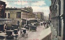 c1910 Front St., Market District, Portland, OR SIgns Owl Cigar, Produce Postcard