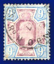 More details for 1905 sg250a 9d dull purple & ultramarine csp m40(1) good used cv-fu £75 aktl