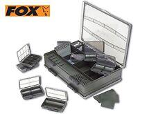 FOX F Box Deluxe Grande Doppio sistema TERMINALE Tackle Box Plus regalo gratuito