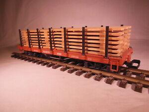 4169 LGB D&RGW Flat Car with Wood Loads G Scale
