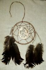 "Dreamcatcher HOWLING WOLF 14"" Feathered Tribal OA Regalia Pow Wow  D46"