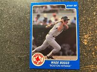 Wade Boggs Red Sox 1986 Star Company BLUE SET BLANK BACK