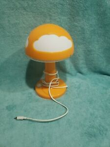 IKEA Vintage Orange With Clouds Mushroom Light Skojig Needs Plug Adapter