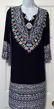 NWT $149 Chico's Tunic Dress 3/4 Sleeves Embellished Beaded  Size S or 6/8