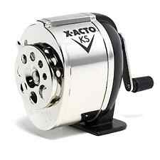 New Manual X-ACTO KS Pencil Sharpener Office Classroom Old School, Metal Finish