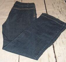 Talbots Women's Size 8 Signature Flare Cut Wide Leg Trouser Jeans