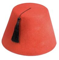 Turkish Hat Fez Tarboosh Party Cap Costume Dress Up Costume Moroccan