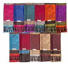 12 NEW Women Soft Silk Pashmina scarf  Cashmere Shawl Stole Wrap Wholesale LOT