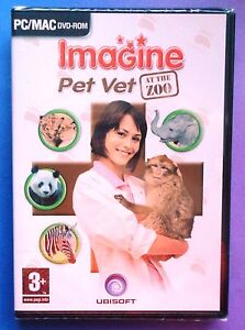 IMAGINE PET VET AT THE ZOO PC DVD-ROM/MAC ANIMALS GAME brand new & sealed UK