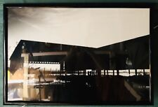 "Black & White Photography Print Hardel Lumber Fire Olympia Acrylic Framed 21x31"""