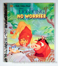 The Lion King: No Worries (1995, HB) A Little Golden Book - Simba - Disney
