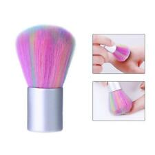 Rainbow Color Manicure Cleaner Nail Art Dust Brush Fiber Hair Powder Remover