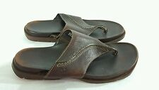 TIMBERLAND Women's Brown Leather Thong Flip Flop Slide Sandal Size 8.5M