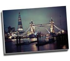 "Large Modern London Skyline Tower Bridge Canvas Print 30x20"""