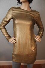 NWT Diane Von Furstenberg GOLD sequin long sleeve dress size 0 $765