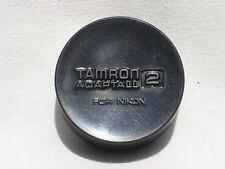 "One Genuine TAMRON ""adaptall 2"" rear lens cap for NIKON lenses     (black logo)"
