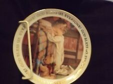 """""""Christmas Blessings"""" collectible Christmas plate."""