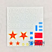 HengLong 1/16 Scale China 99Z Rc Tank Model 3899 Accessory Sticker Decal