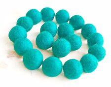 2.5cm CYAN AQUA BLUE Felt Ballsx20.Wool.PartyDecor.Pom poms.Felt Ball.Wholesale.