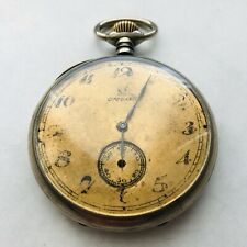 RARE Antique OMEGA Pocket Watch SWISS Vintage Open Face Very Old Beautiful